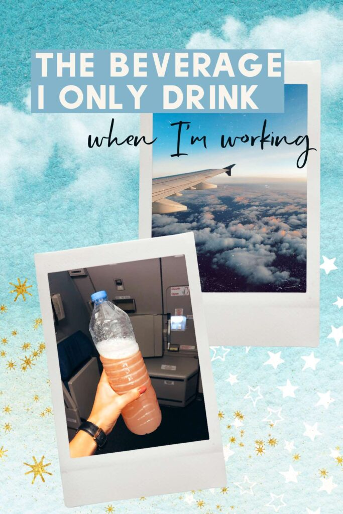 The beverage to drink when traveling in airplanes