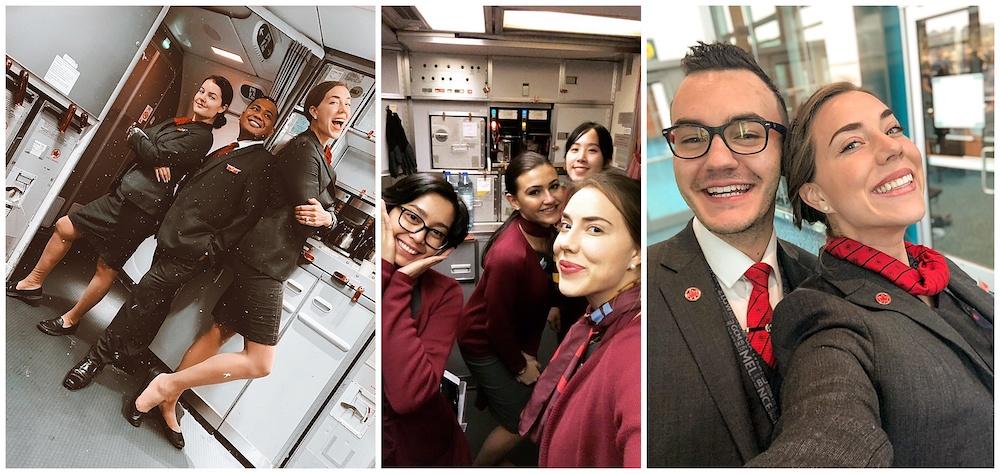 Pictures of flight crew