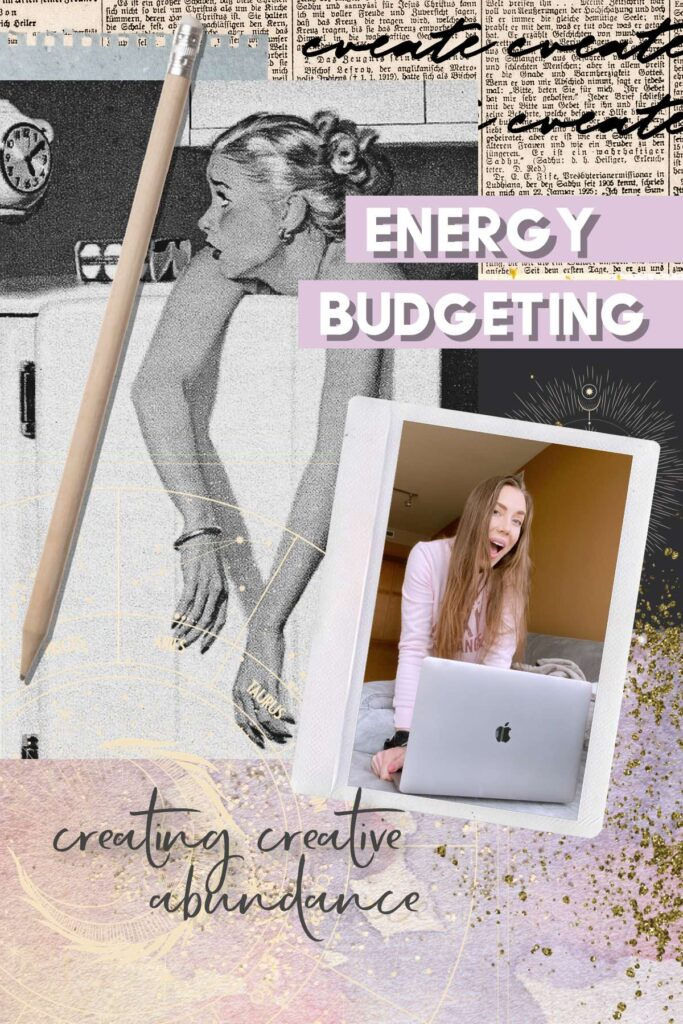 Energy budgeting with your daily planner