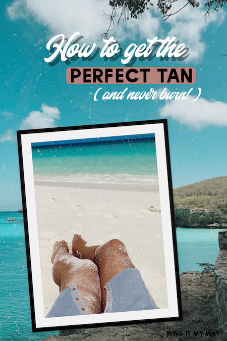 Tips for getting a good tan naturally