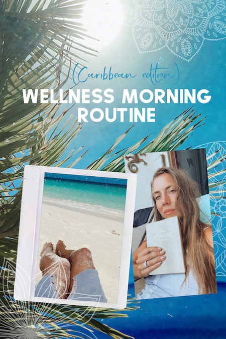 Wellness morning routine ideas on a tropical island