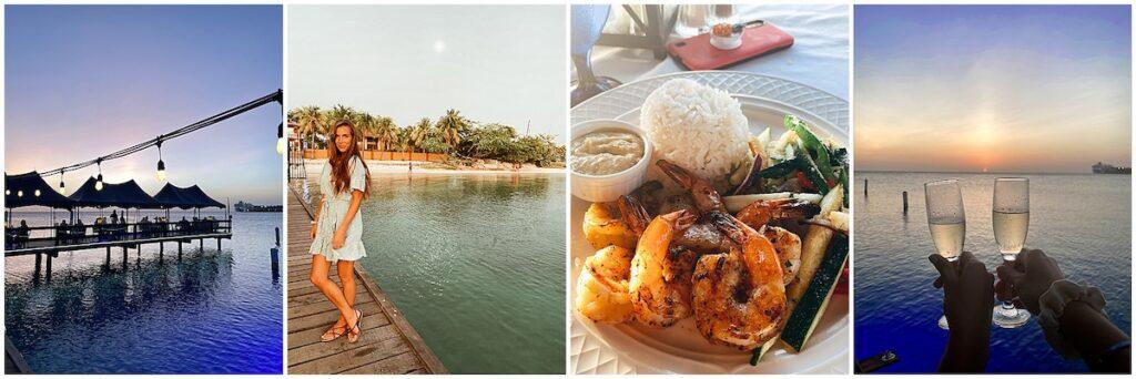 restaurant on a pier over the ocean
